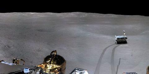 cnsa rover atterrisseur lune panorama lunaire yutu2