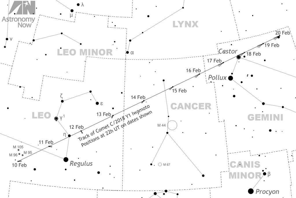 comete iwamoto carte ciel