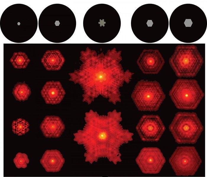 fractales laser lumiere