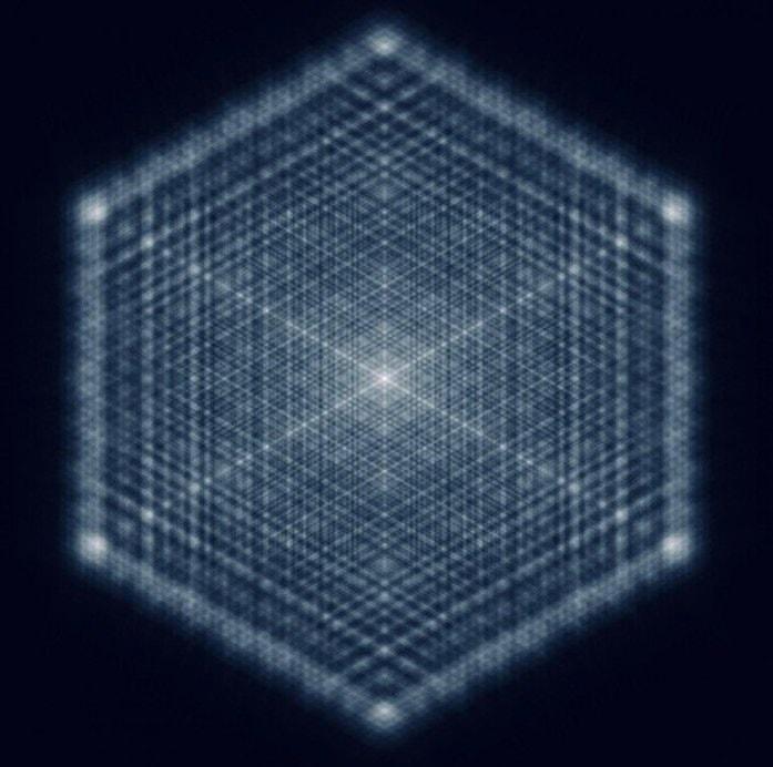 motif fractal laser