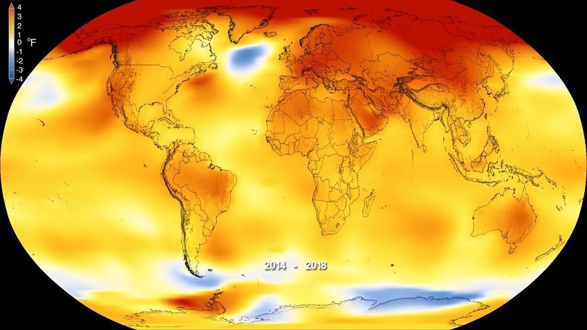 variation temperatures normale