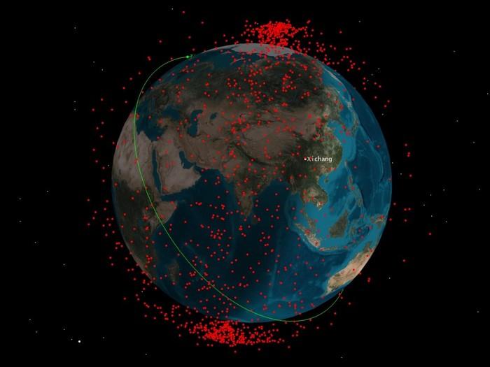 debris spatiaux nasa orbite terrestre iss asat
