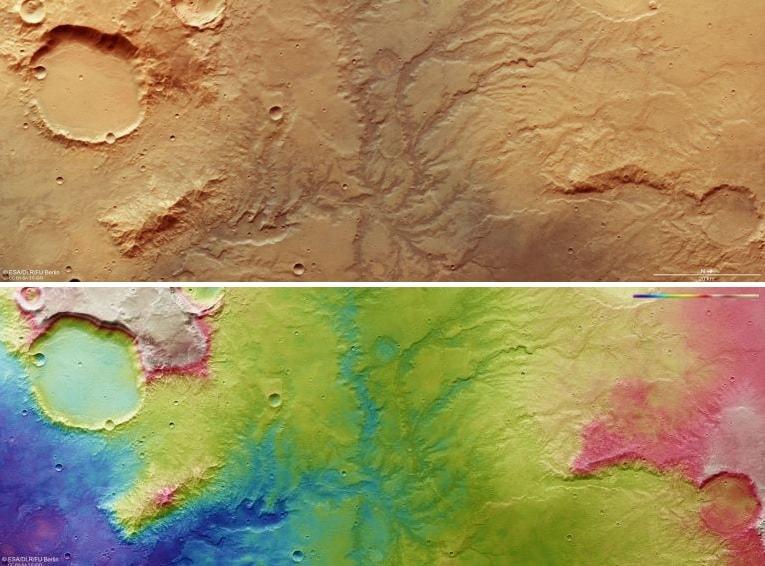 carte rivieres mars