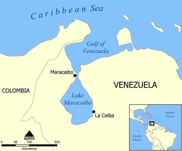 carte venezuela maracaibo