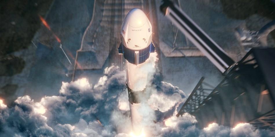crew dragon spatial vaisseau nasa station spatiale internationale iss