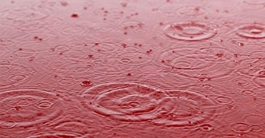 pluie rouge sang