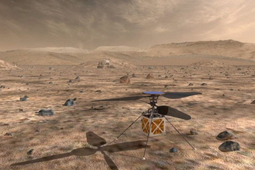 projet helicoptere mars