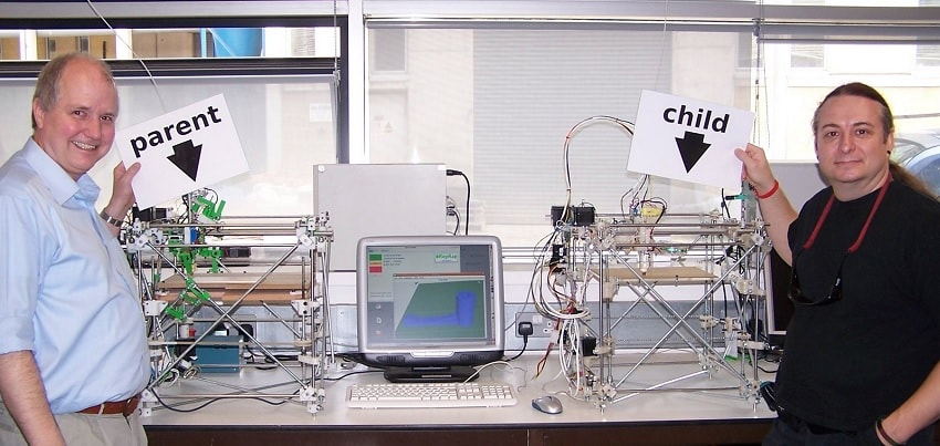 reprap machine repliquante