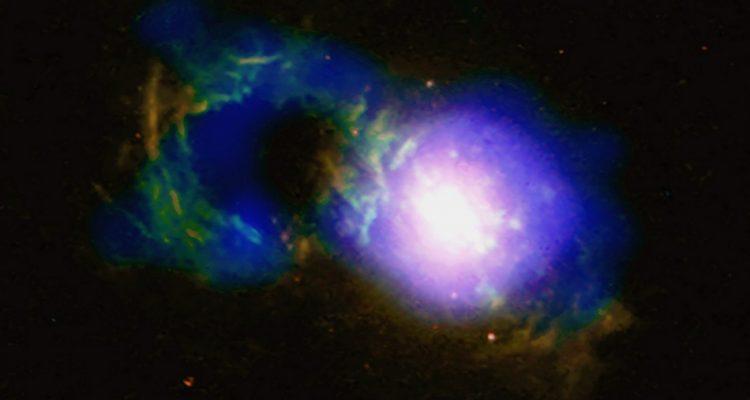 tasse the quasar trou noir galaxie structure cosmique chandra