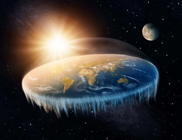 terre plate platiste glace mur