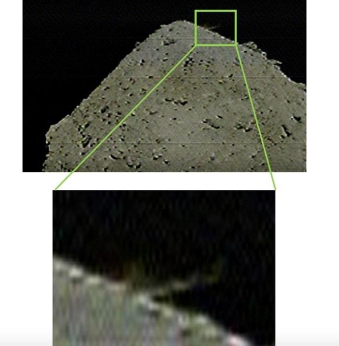 impact cratere ryugu