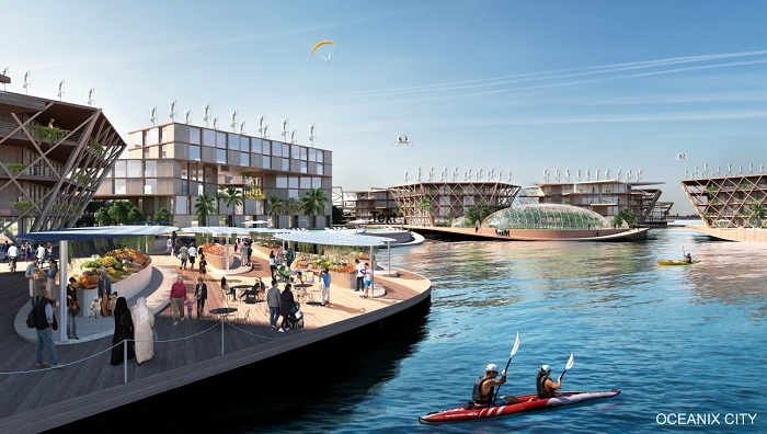 oceanix ville flottante eau