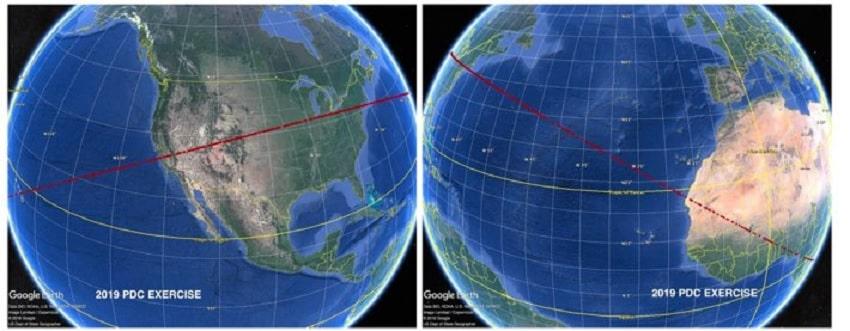 trajectoire risque asteroide