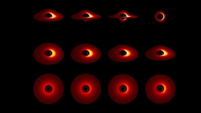 trou noir luminet