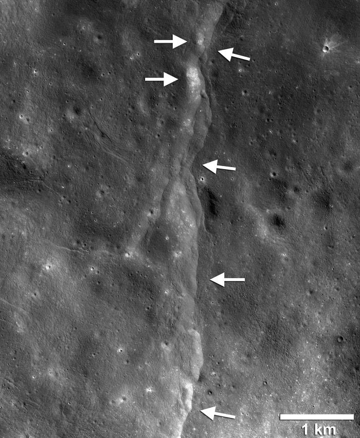 faille chevauchement lune