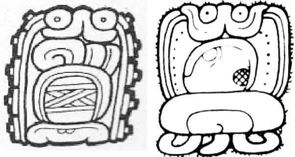 glyphes etoiles maya