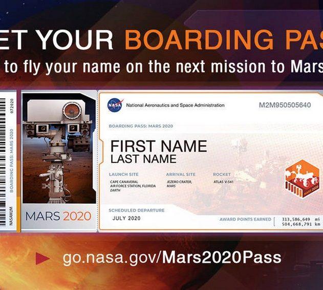nasa boarding pass