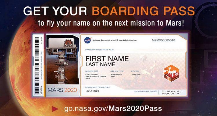 Mission Mars 2020 : La Nasa vous propose d'envoyer votre nom sur Mars !