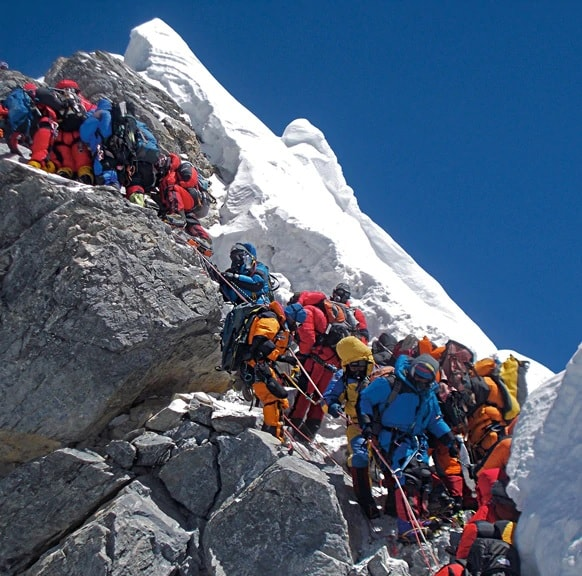 sommet embouteillage everest