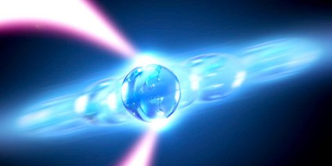 vue artiste laser phonons levitation particule