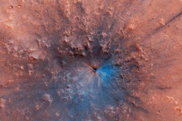cratere impact mars