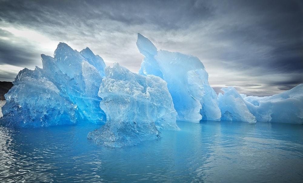 glace bleue