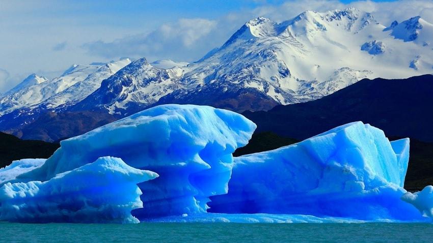 glacier glace bleue
