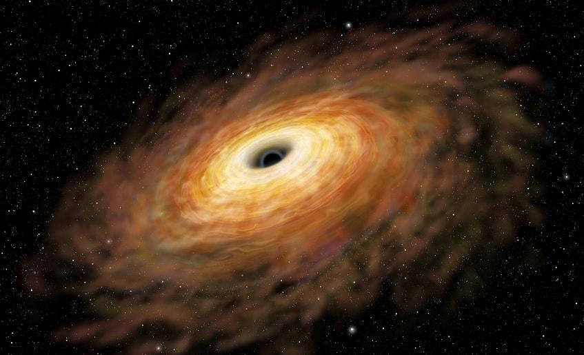 trou noir disque