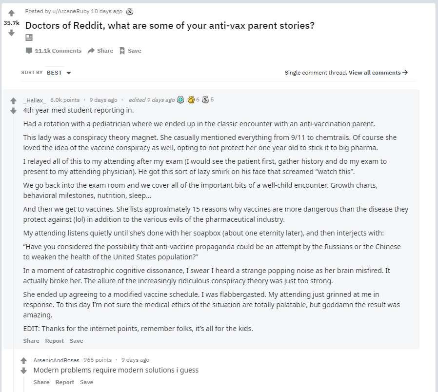 vaccin medecin convainc anti vax theorie complot