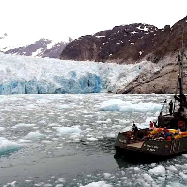 beateau mesure glacier eaux alaska