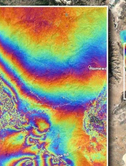carte difference avant apres seismes californie