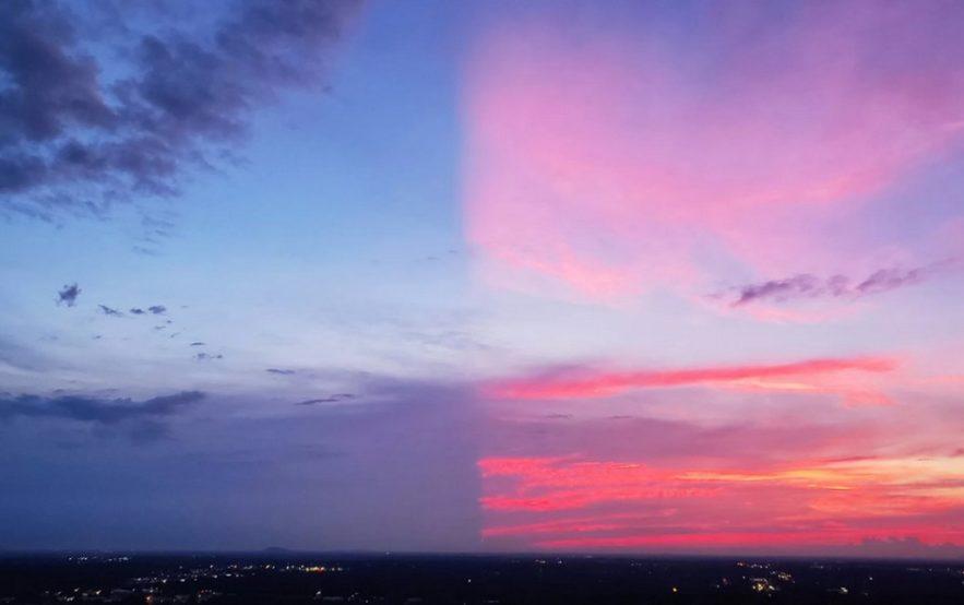 coucher soleil couleur phenomene naturel