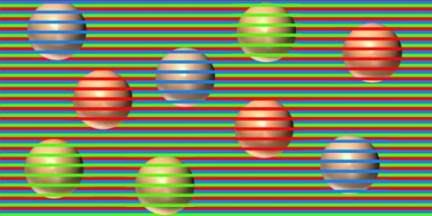 illusion confetti spheres couleurs