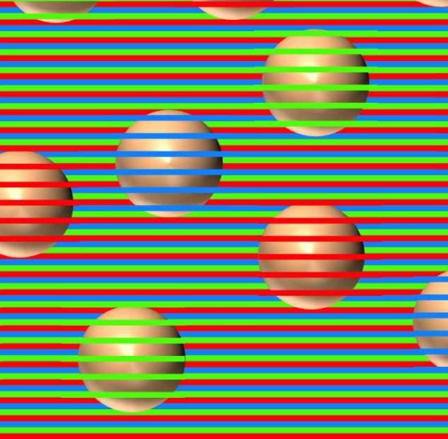 illusion confetti spheres couleurs