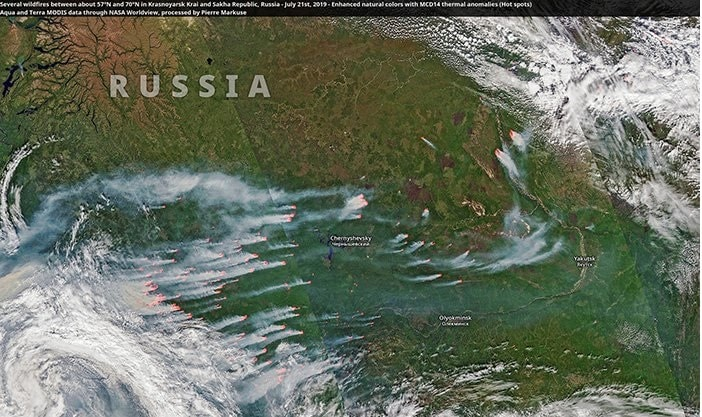 incendies russie
