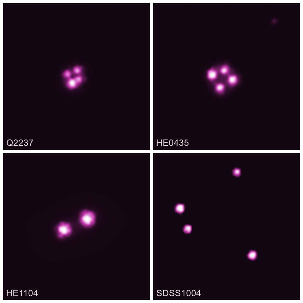 quasars vus a travers lentille gravitationnelle