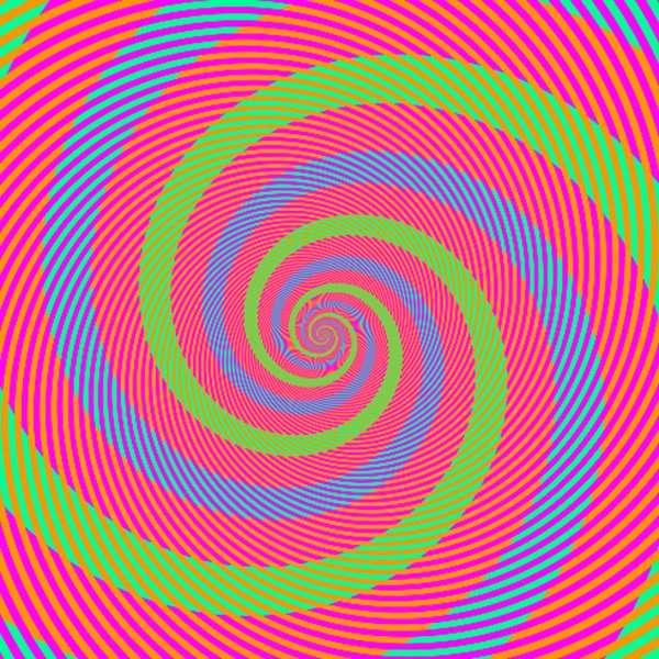 spirale trois couleurs illusion