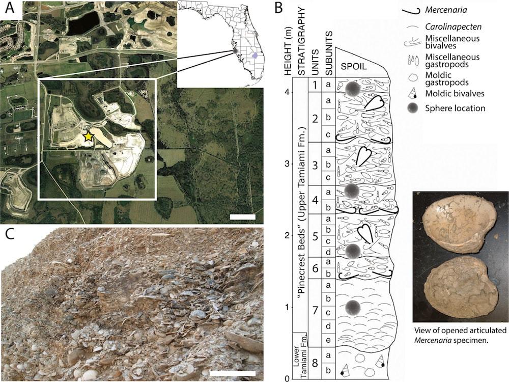 anciennes billes cosmiques traces impact meteorite carte lieu