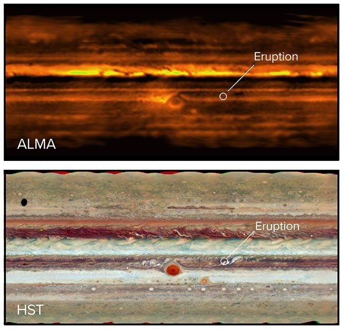 eruption jupiter