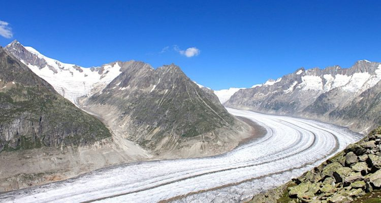glaciers suisses fonte hausses temperatures aletsch