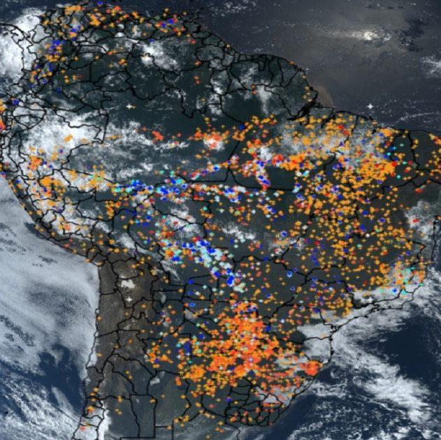 incendies amazonie espace