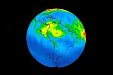 satellites nasa revelent niveaux monoxyde carbone atmosphere amazonie