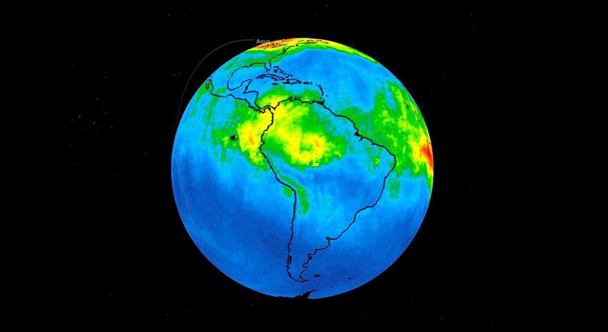 satellites nasa revelent niveaux monoxyde carbone atmosphere amazonie