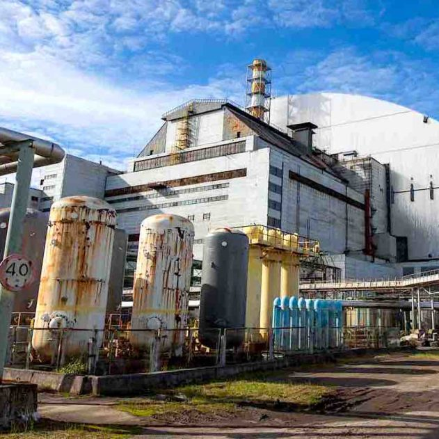 tchernobyl sarcophage beton demantelement