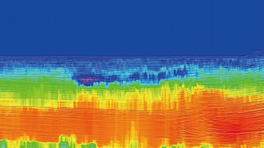 carte vitesse sismique vaste reservoir gaz effet serre