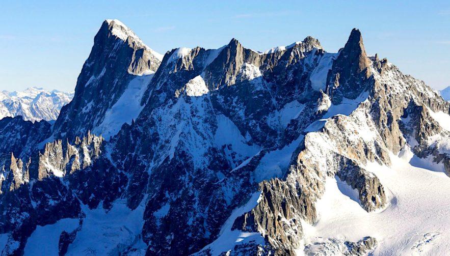 glacier mont blanc grandes jorasses effondrement imminent
