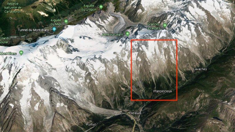 glacier planpincieux mont-blanc effondrement imminent