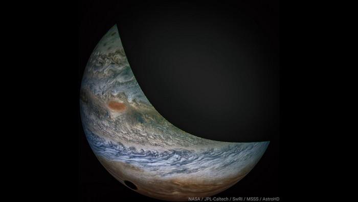 juno io lune jupiter eclipse ombre