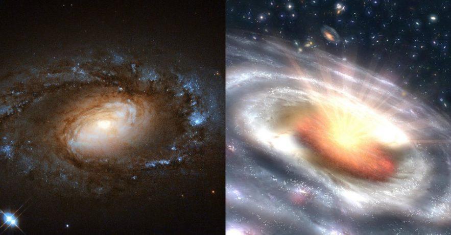 galaxie quasar transformation rapide