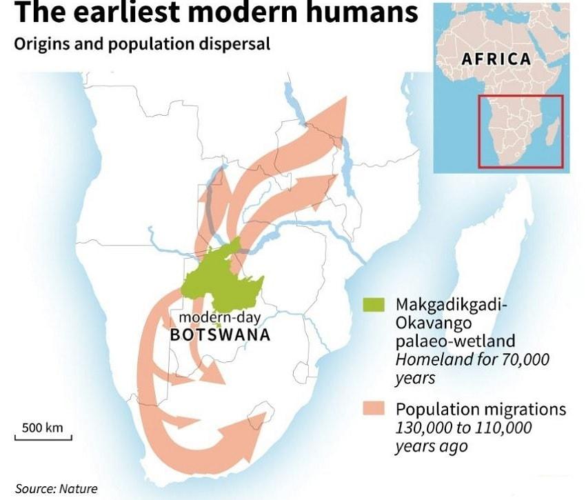 carte botswana